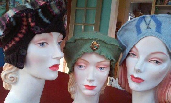 brown_striped_tam_wiggly_green_blue_argyle_turban_beret.jpg