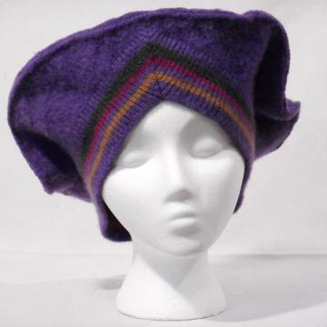 Big Purple V-Neck Tam