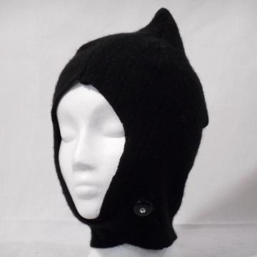 Black Cashmere Balaclava