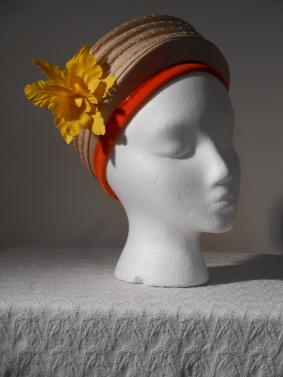 Creamy Cap with Yellow Flowers
