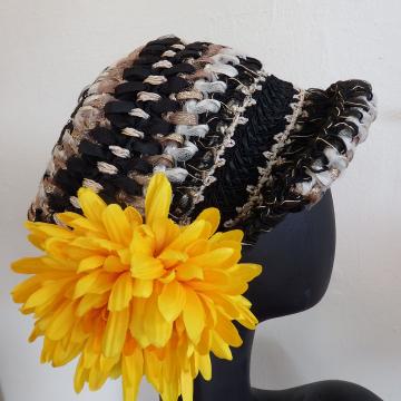 Crocheted Ribbons, Flower!!