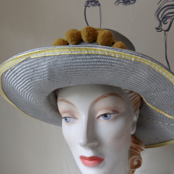 Silver and Yellow Sunhat
