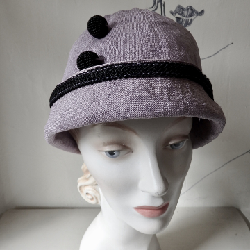 Cloche with Vintage Trim and Beads
