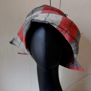 Plaid Coat Hat