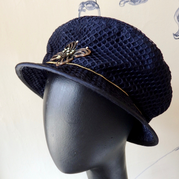 Cab Driver Cap with Butterfly