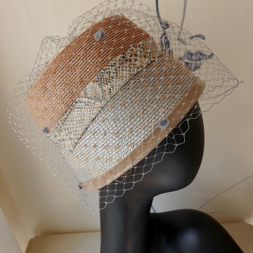 Two Hats wed with Trims and Veils