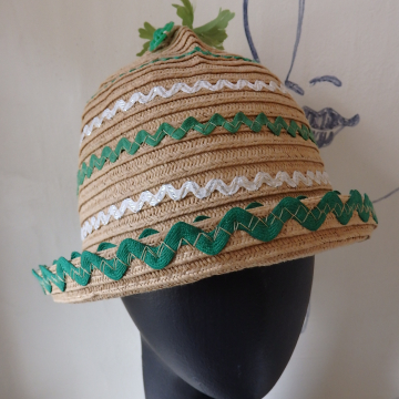 Green and White RickRack