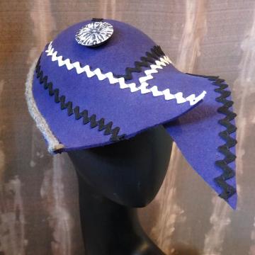Blue ZigZaggy Cloche