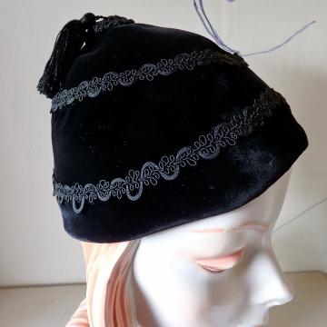 Velvet Tassel Cap