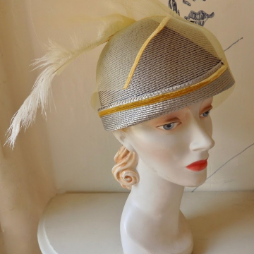 Summer Cloche w/Feather