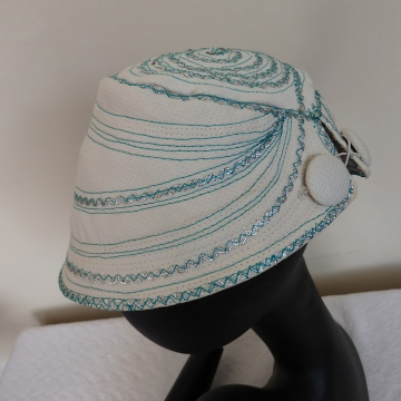 Turquoise and Silver Trim Cap