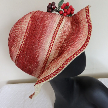 Wavy Painted Straw Hat
